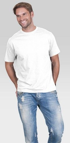 T-shirt męski PromoStars STANDARD bawełna biały rL