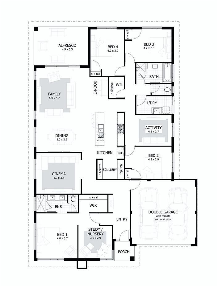 4 Bedroom Floor Plans Denah Desain Rumah Desain Desain Rumah