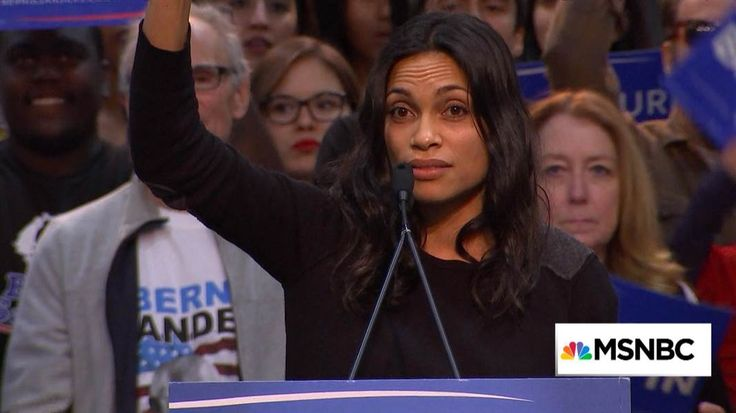 Actress Rosario Dawson makes remarks in support of Democratic presidential candidate Bernie Sanders at a primary night rally in San Diego, California. 3/23/16 Rosario Dawson campaigns for Bernie Sanders Actress Rosario Dawson makes remarks in support of Democratic presidential candidate Bernie Sanders at a primary night rally in San Diego, California. Duration: 8:26 3/23/16