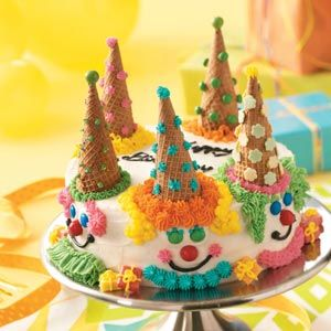 Birthday Clown Cake Recipe -I baked this cake for every one of our two sons' birthdays until they became teens. Kids and adults alike love it! —Marlene Dick, Oakville, Ontario
