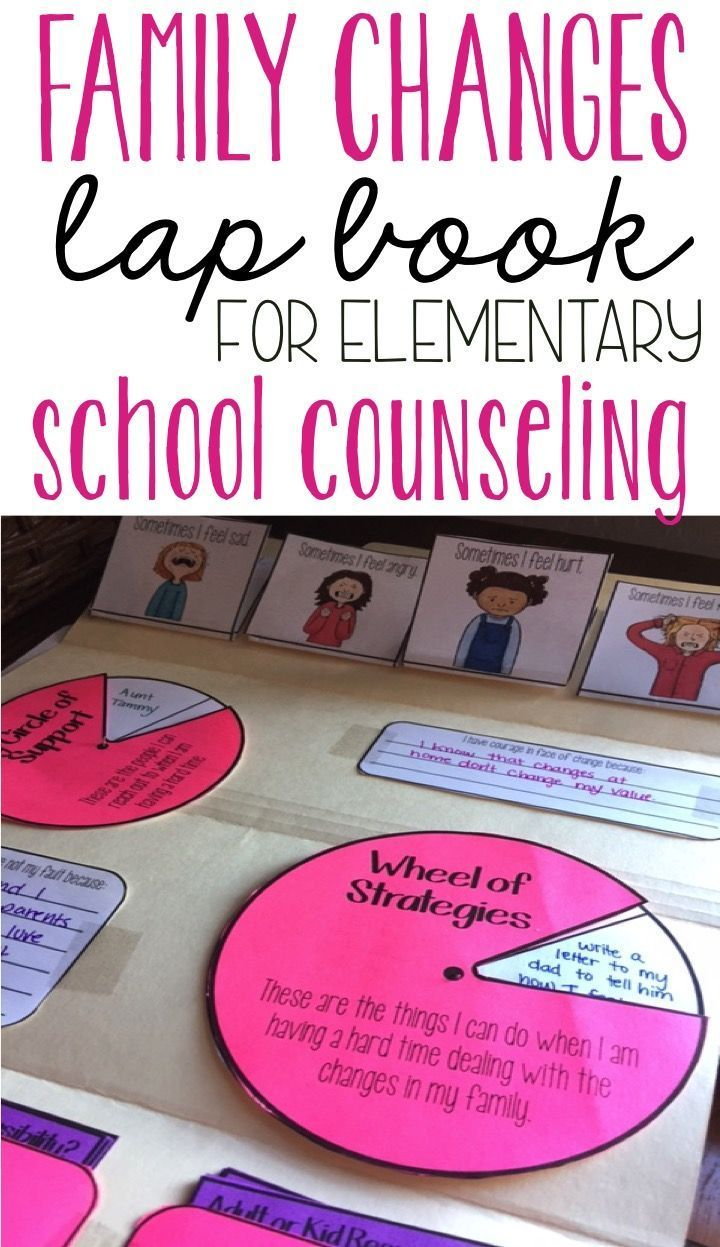 family changes lap book for elementary school counseling - perfect for working with students who are dealing with divorce, separation, incarceration, and foster care in individual or small group counseling