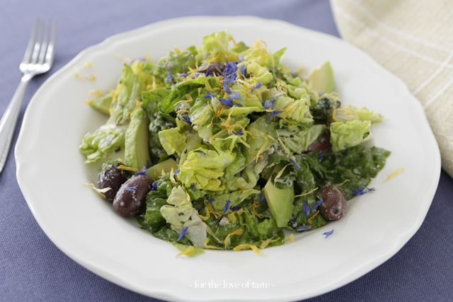 Green Salad with anchovies dressing /// Groene Salade met ansjovis dressing
