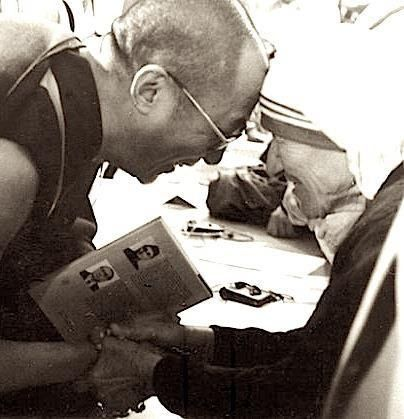 page of wands - Dalai Lama and Mother Teresa