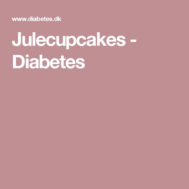 Julecupcakes - Diabetes