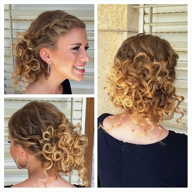 how to make naturally curly hair look nice when up