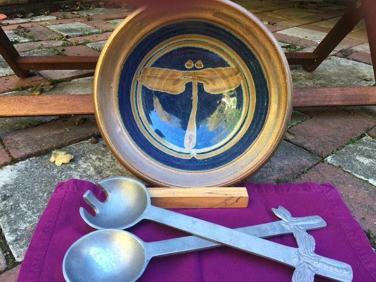 http://richardfisherpottery.com/ Salad Bowl Blue Glaze