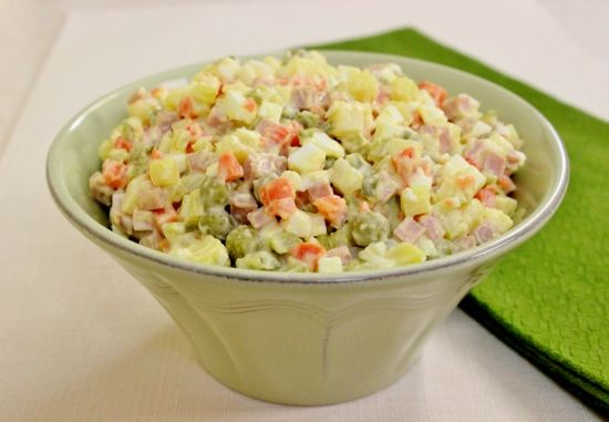 "#RUSSIAN_CUISSINE_Recipes ~ Russian Salad ""Olivie"" – Салат ""Оливье"" | Olga's Flavor Factory"
