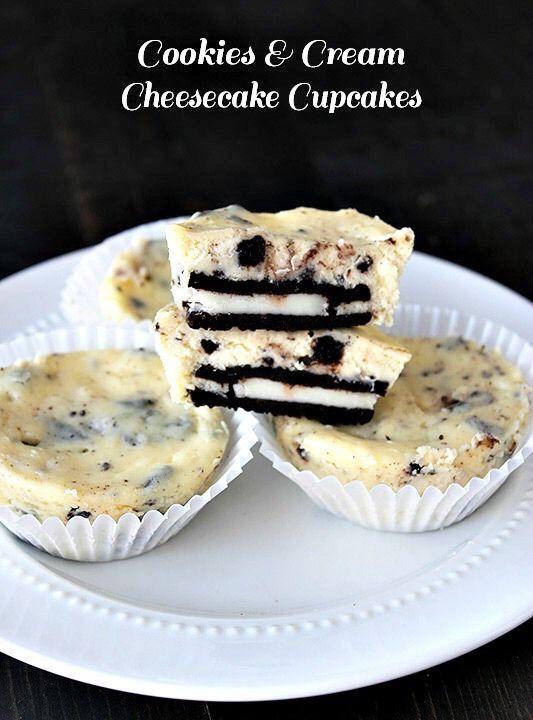 Delicious Cookies Cream Cheesecake Cupcakestipit #Food #Drink #Trusper ...