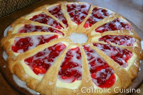Catholic Cuisine: Cherry Cheese Coffee Cake for Christmas