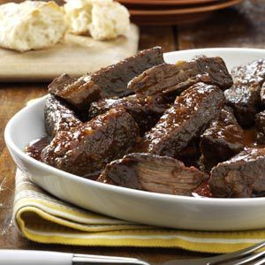 Slow-Cooked Short Ribs.  Eating these right now.  Had to stop & pin - amazing!!!