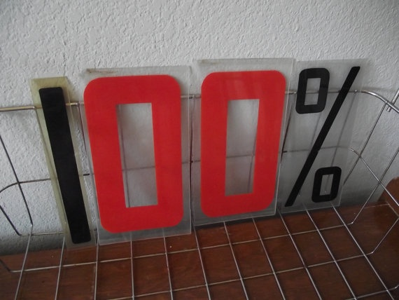 One Hundred Percent  Sign Letters by TheClassicButterfly on Etsy, $12.50