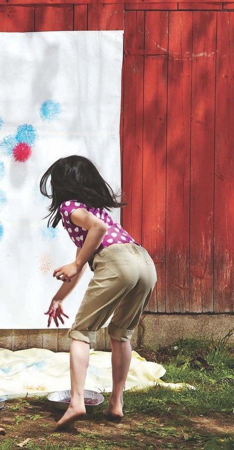 outside paint mural