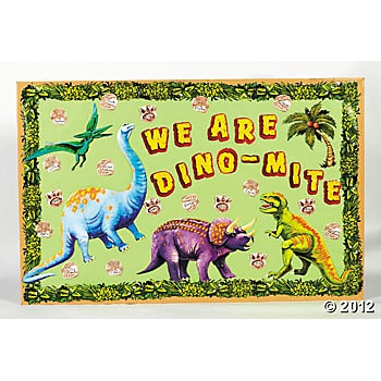 131 Pc. Dinosaur Bulletin Board Set $10.50