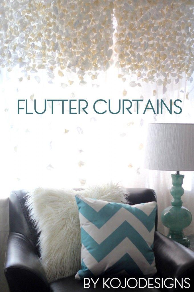 #DIY Anthropologie Knock Off Flutter Curtains | kojotutorial