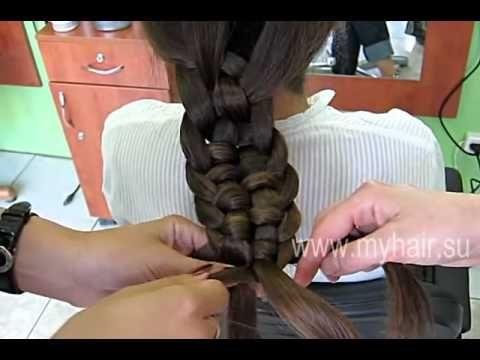 Коса из пяти прядей   2 вариант