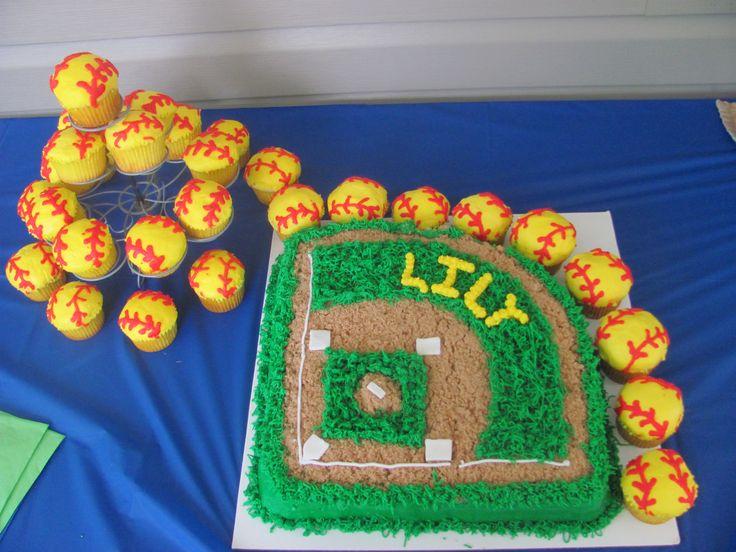 Toothless Softball Cake Ideas 103913 Rice Softball Cakes D