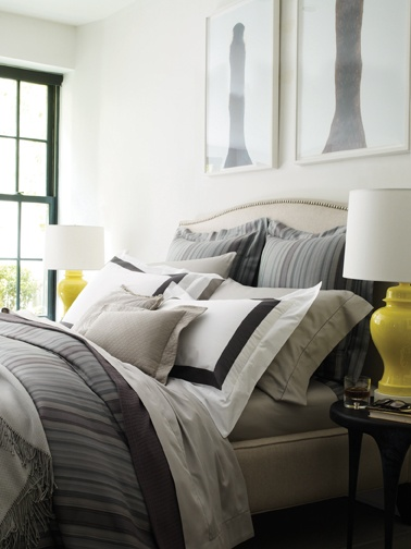 A must-have for the stylish bachelor: sleek and smooth Dario bedding by SFERRA.