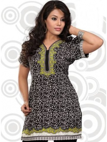 Black & White Indian Kurti @ $28.99