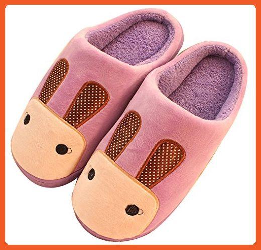 Blubi Women's Warm Rabbit Slippers Novelty Slippers (7.5, Purple) - Slippers for women (*Amazon Partner-Link)