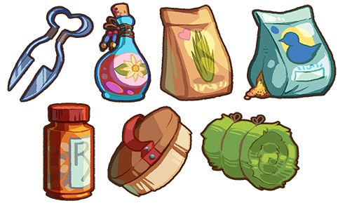 Game Items - Misc. Supplies by *IntroducingEmy on deviantART