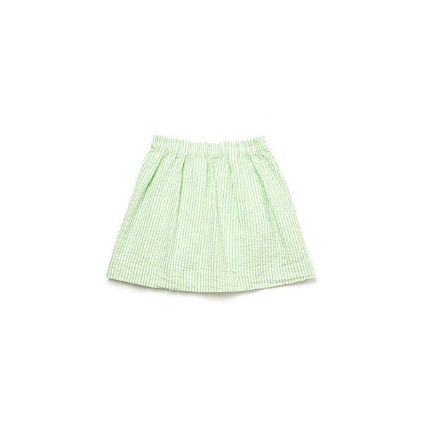 Steven Alan Owen Skirt steven alan ($158) ❤ liked on Polyvore featuring skirts, bottoms, saias, faldas, women, steven alan, green skirt, elastic waist skirt and seersucker skirt