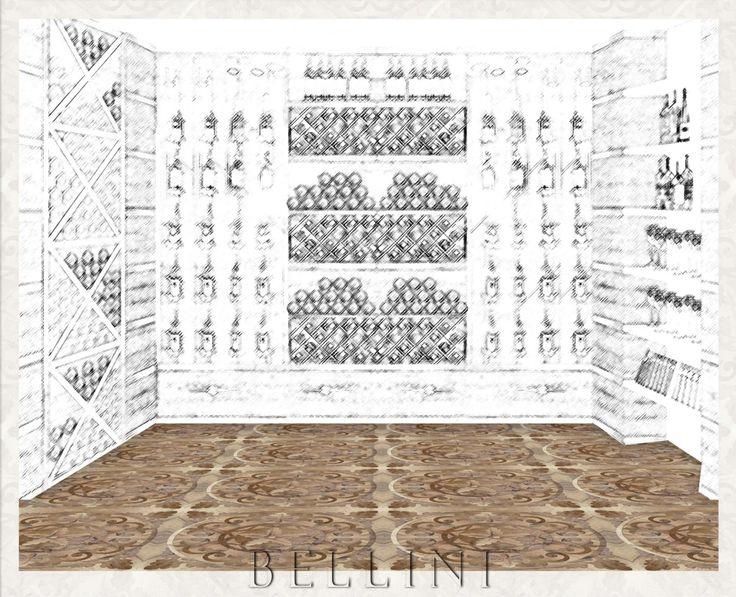 Modello: BELLINI Designed by Carlo Apollo    A P I - Antichi Pavimenti Italiani - in Milano dal 1978  Italian old floors  Solo Legno Antico - Only Old Wood - Nella Foto Parquet artistici in legno di recupero - www.antichipavimentiitaliani.it  Copyright © Carlo Apollo