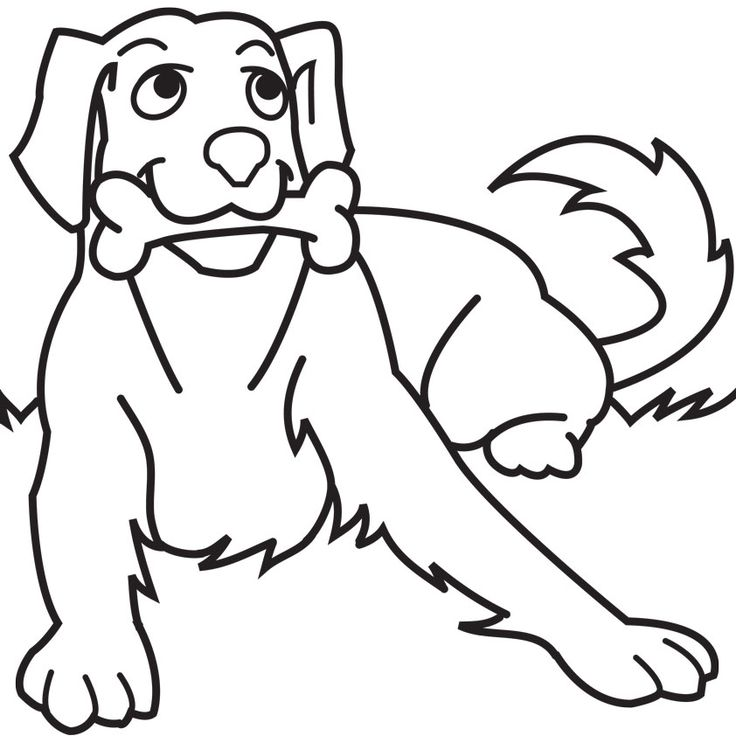dog coloring pages for kids preschool crafts - Cute Dog Coloring Pages Realistic