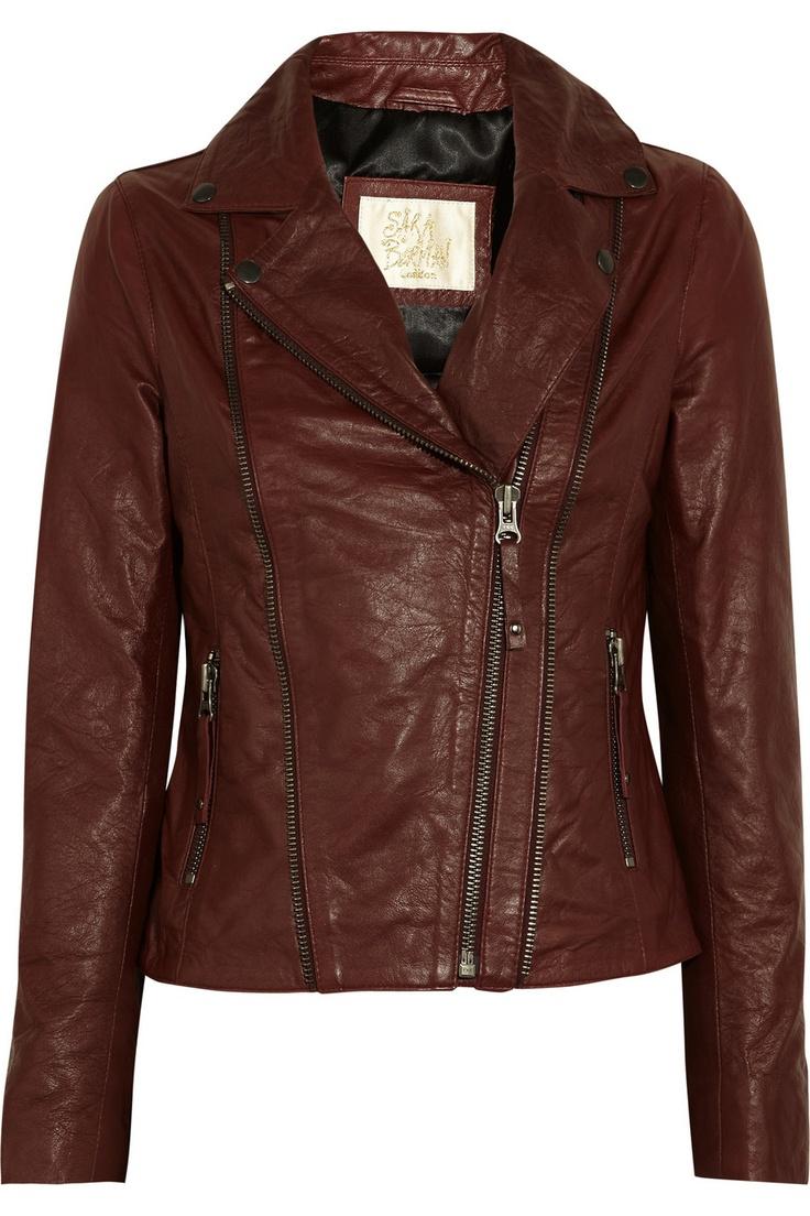 SARA BERMAN  Rudy leather biker jacket