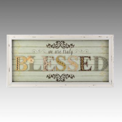 We Are Truly Blessed Shadowbox Kirkland S Might Be My Master Bedroom Theme Colors Love It Home Sweet Shadow Box Decor