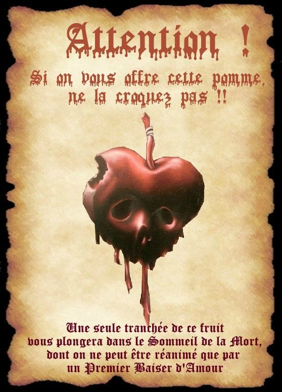 affiche pomme blanche neige