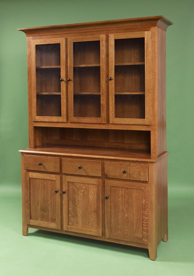 Furniture shaker hutches woodworking projects plans for Wood hutch plans