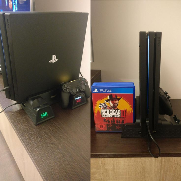 Super quiet, holds lots of games, and fits the PS4 great