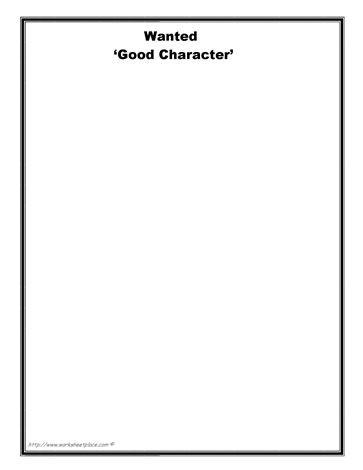 37 best character worksheets images on pinterest free worksheets social skills and character. Black Bedroom Furniture Sets. Home Design Ideas