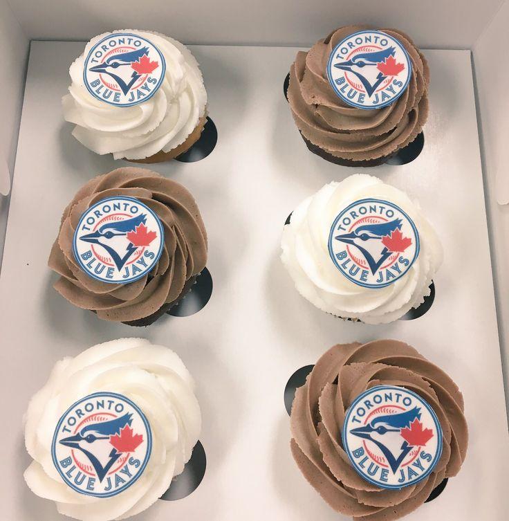 #TorontoBlueJays #Cupcakes #MLB #Baseball #DvasCakes #Cambridge