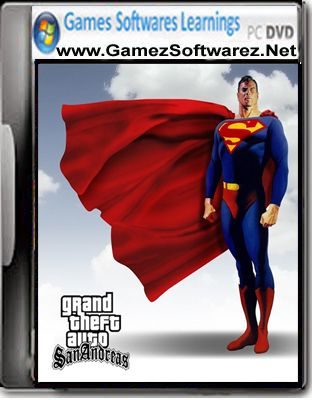 GTA San Andreas Superman Mod Game Highly Compressed Free Download For Pc Full Version Cover Screenshots System Requirements.