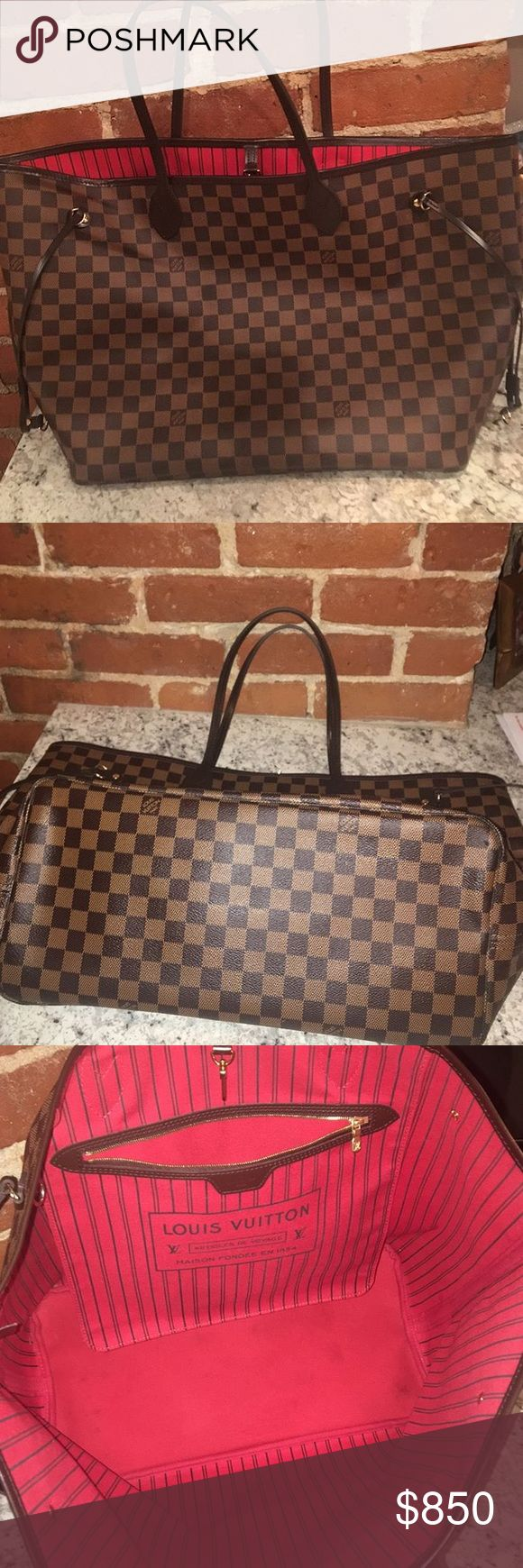 LV Neverfull GM 100% Authentic. Price listed is off posh but can be increased if wishing to purchase on posh. Comes with everything including box, except receipt. No pouch, excellent condition Louis Vuitton Bags