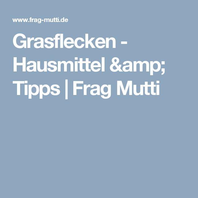 Grasflecken - Hausmittel & Tipps | Frag Mutti