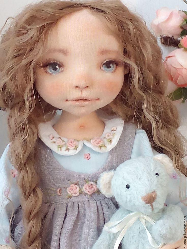 Купить Авторская интерьерная коллекционная кукла. - голубой, куклы и игрушки, кукла в подарок, авторская кукла