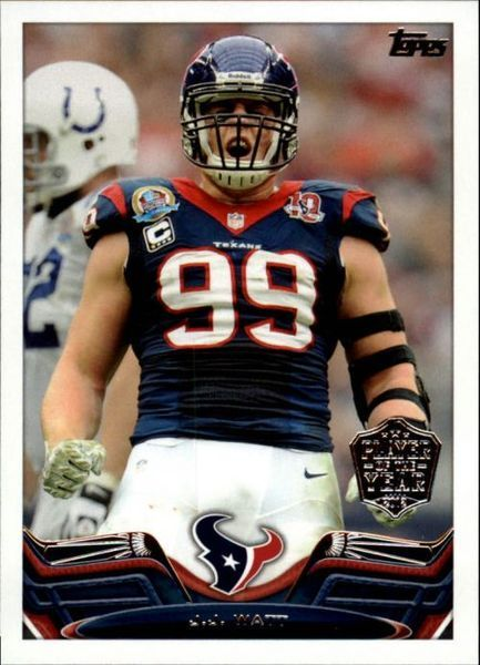2013 Topps Football #99 - J.J. Watt - POY - Houston Texans - FREE S/H