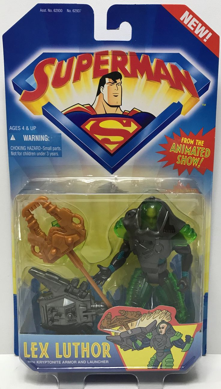 We always have the hottest Vintage Toys at The Angry Spider.  Now available: TAS000050 - 1996 ...  Check it out here: http://theangryspider.com/products/tas000050-1996-kenner-superman-action-figure-lex-luthor?utm_campaign=social_autopilot&utm_source=pin&utm_medium=pin