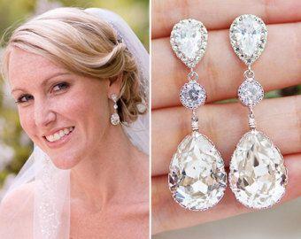 Braut Ohrringe Brautjungfer Geschenk Hochzeit von earringsnation