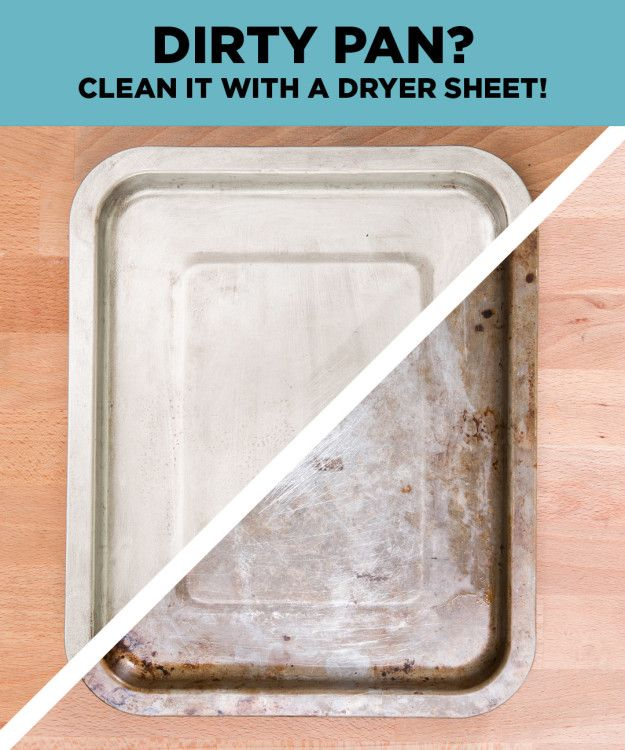 Clean Even Your Dirtiest Pans With This Insane Dryer Sheet Hack
