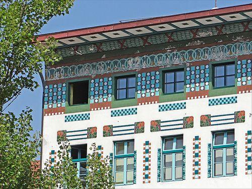 L 39 art nouveau ljubljana la maison hauptmann d tail - Maison de l art nouveau ...