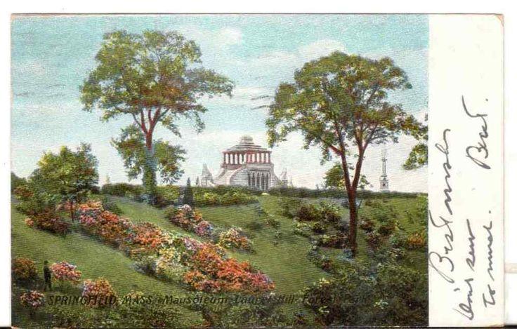 1907 Postmarked Postcard Springfield MA Mausoleum Laurel Hill Forest Park