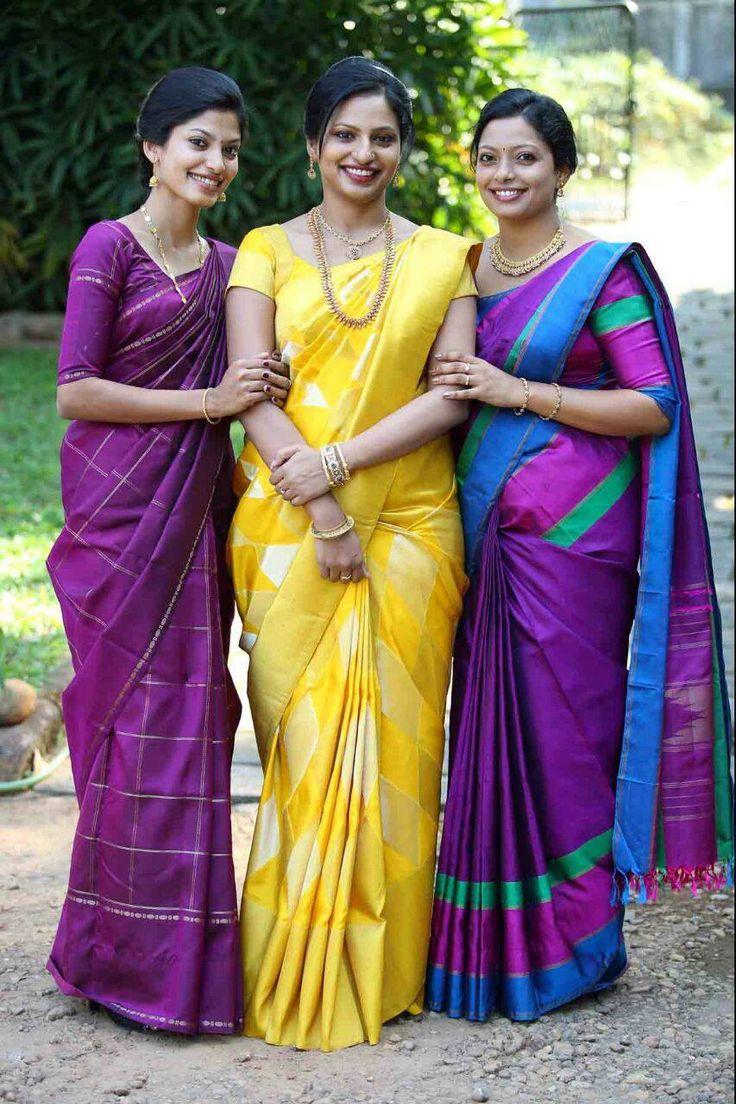 Bride and family in kanchipuram saree.. Kanchi signature collection saree .. https://www.facebook.com/Kanchi-Signature-Collection-353807514697160/timeline/