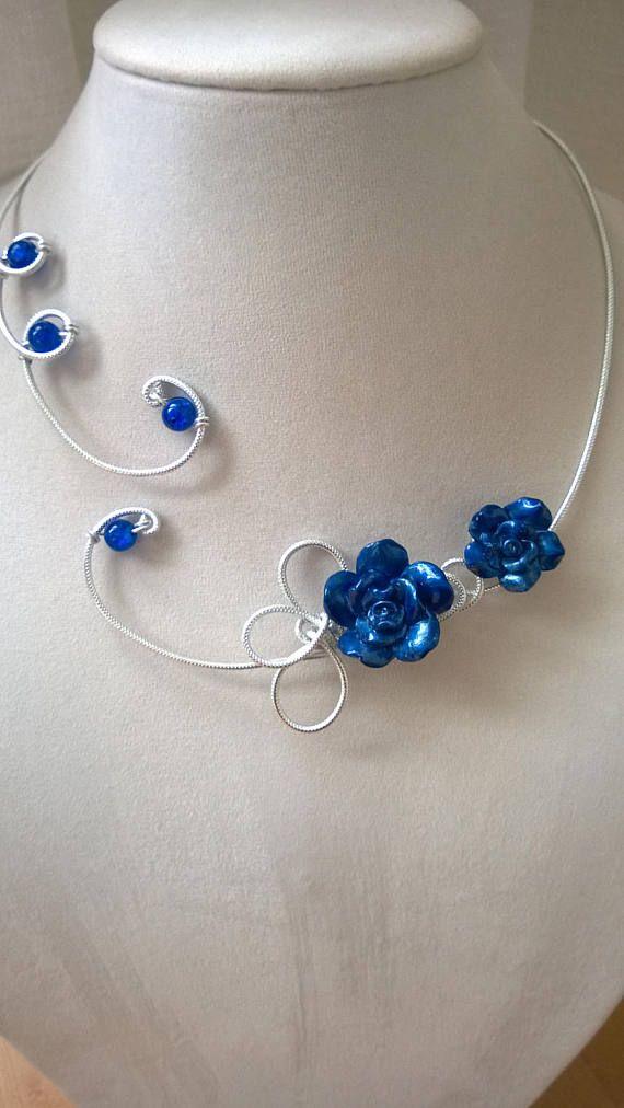 FREE GIFT  Free earrings  Blue wedding jewelry set