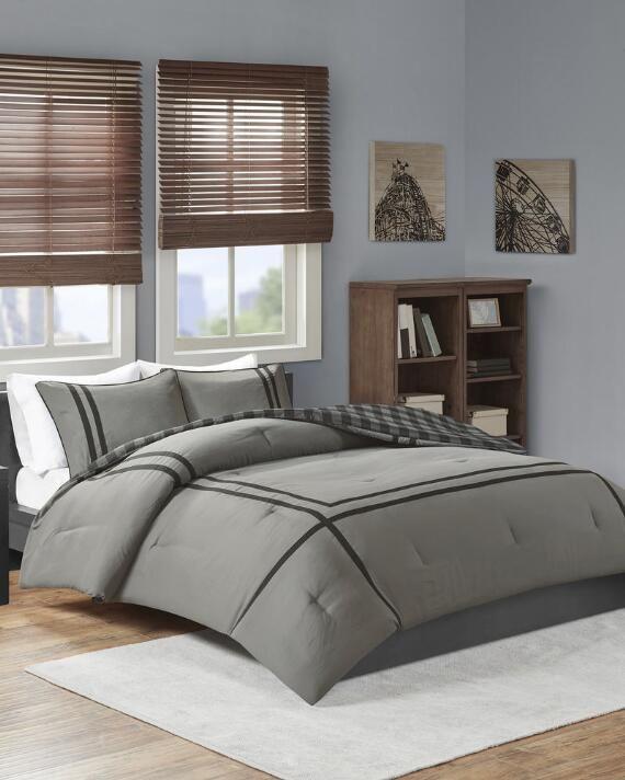 Intelligent Design 3 Piece Owen Reversible Comforter Set | Full/queen |  polyester