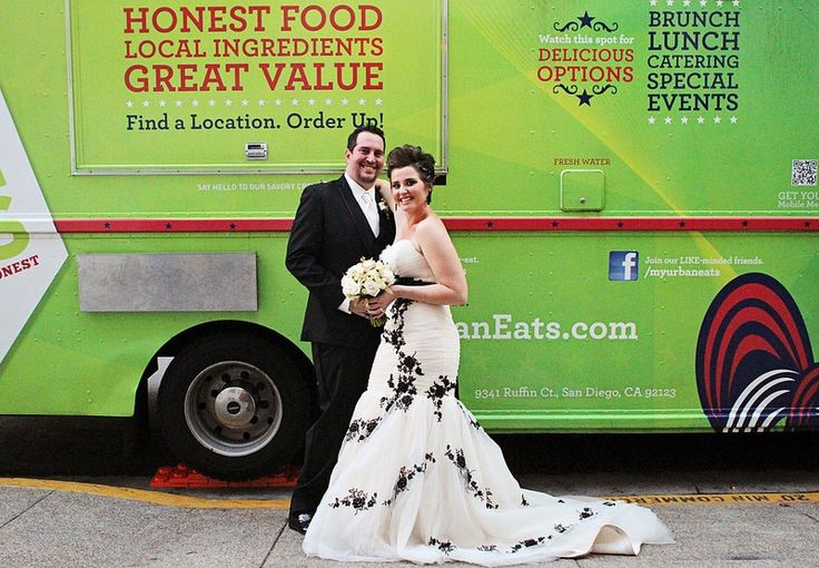 """Sabrina & Williams wedding catered by """"My Urban Eats Truck"""". There are no rules, do it your way!"""