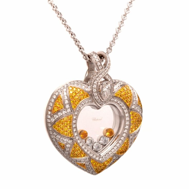 Chopard Fancy Diamond Gold Heart Pendant image 3