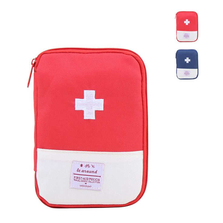 Empty First Aid Bag Houshold Aid Pouch Mini Kit Storage Travel Portable Medical Emergency Package